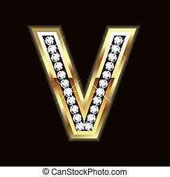 Bling letter V