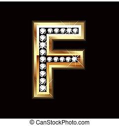 bling, lettre f