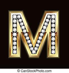 bling, m, lettera