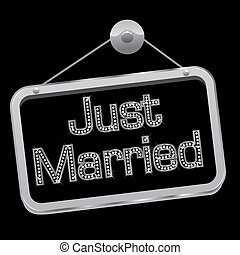 bling, segno, sposato appena