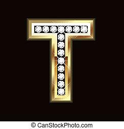 Bling T letter