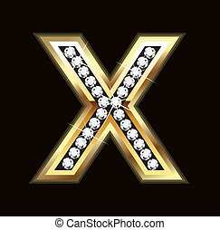 Bling X letter