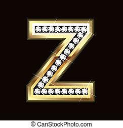Bling Z letter