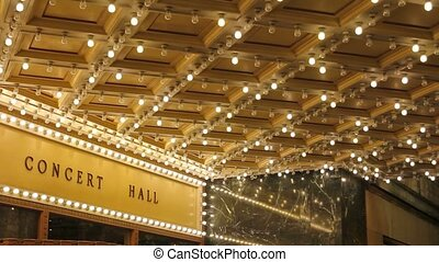 Blinking ceiling concert hall light - High definition movie...