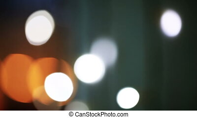 Blinking city lights. Holiday background.