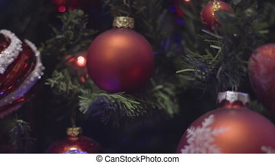 Blinking Garland on Christmas tree and New Year Decoration....