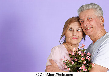 Bliss Caucasian elderly people together
