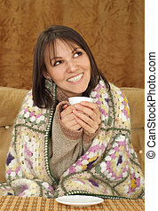 Bliss charming Caucasian woman