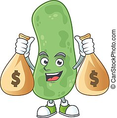 Blissful rich enterobacteriaceae cartoon character having ...