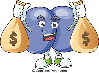 Blissful rich streptococcus pneumoniae cartoon character ...