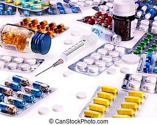 Blister pack of pills.