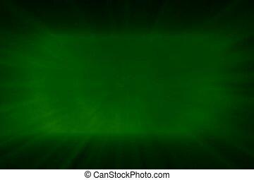 blitz, licht, grün zurück, boden