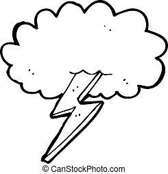 blixt regel, moln, tecknad film