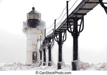 Blizzard over St. Joseph Lighthouse