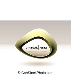 blob pebble gold