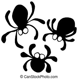 Blob Spider Cartoon Symbols