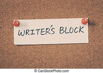 bloc écrivain