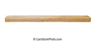 bloc bois, blanc, isolé, fond