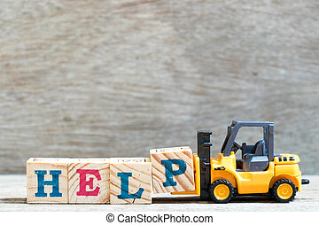 bloc, bois mot, jouet, complet, p, prise, fond, lettre, aide, élévateur