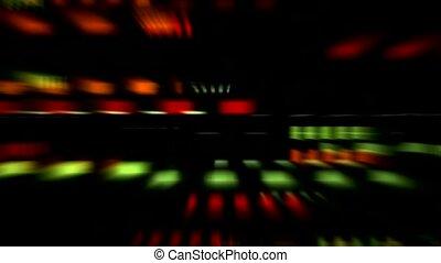 bloc couleur, modèle, rayon, lumière