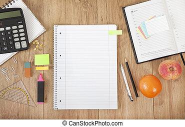 bloc-notes, bureau