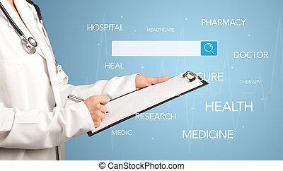 bloc-notes, docteur féminin