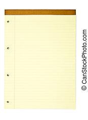 bloc-notes, jaune