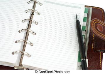 bloc-notes, page, vide