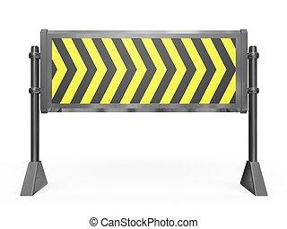 bloc route, barrière
