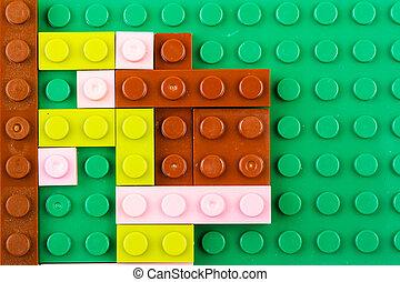 bloc structurel, plastique