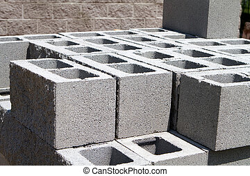 blocchi concreti, architettonico