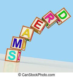 blocchi, esposizione, ottimismo, futuro, ambizione, fare un sogno