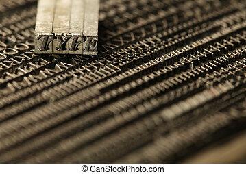 blocchi, letterpress