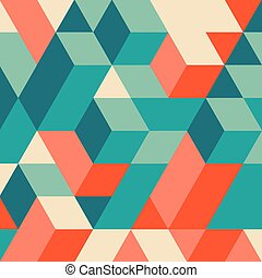 blocchi, pattern., fondo., geometrico, struttura, 3d