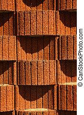 blocchi, piantatore, struttura, wall., fondo, trattenendo