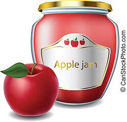 blocchi vaso, mela