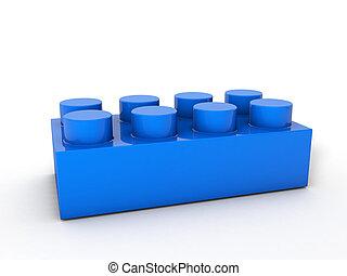 blocco blu, lego