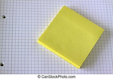 blocco note, giallo