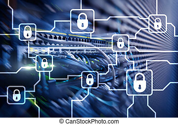 Blochain information encryption. Cyber security, crypto.