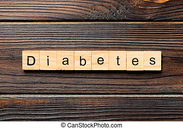 block., 概念, 単語, 上, 糖尿病, 木製である, desing, 木, 書かれた, テーブル, 光景, あなたの, テキスト