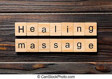 block., bois, guérison, desing, texte, concept, écrit, table, ton, bois mot, masage