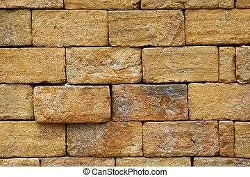Block Brick Wall Background
