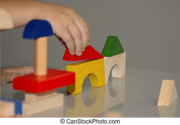 Block Building - Photo of Wooden Blocks