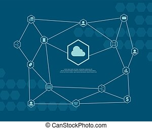 Block chain background vector art collection stock