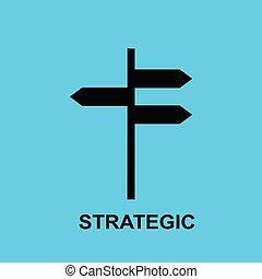 Block chain flat icon. Strategic symbol. - Vector...