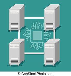 block chain tecnology concept vector illustration graphic...