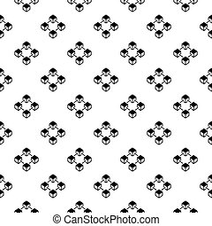 Block chain vector concept seamless pattern