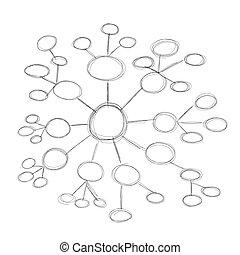 Diagramm, block. Diagramm, zellen, block, leerer Clipart Vektor ...
