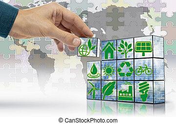 Block Game, Alternative Energy, Concept