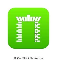 Block gate icon green